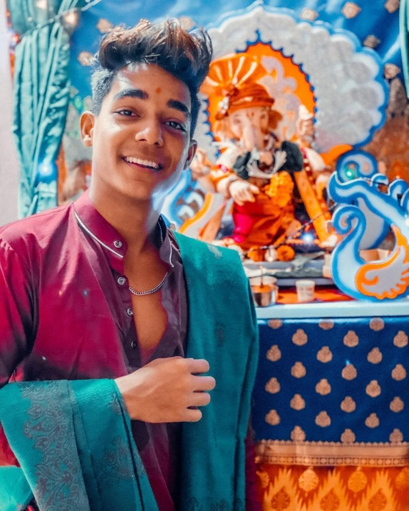 Rohit zinjurke In Indian puja youtuber